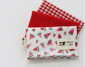 Watermelon - Quarter Fabric Pack 3 Fabric 1set - Sets for 3 each 45 X 55 cm