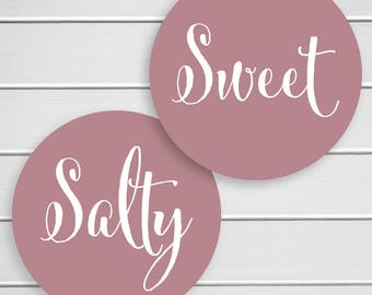 Sweet and Salty Stickers, Wedding Welcome Bag Sticker, His Favorite Her Favorite Wedding Stickers (#375-SS)