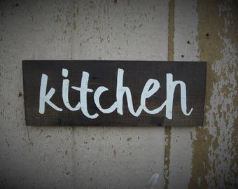 Rustic Kitchen Sign Wood Kitchen Letters Salvaged Decor Reclaimed Wood  Signs Farmhouse Decor Distressed Signs Rustic