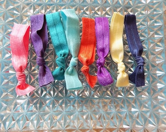 Fold Over Elastic Hair Ties offered in a variety of colors--gifts for her--hair accessories--FOE Hair Ties--gifts for girls--Easter gifts