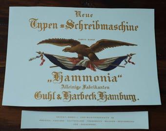 Decals for the 1886 Hammonia Index Typewriter