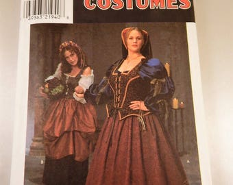 Medieval RENAISSANCE Gown Costume Pattern Craft Sewing Halloween Pattern Simplicity 8249  Adult Size 18 to 24 Like New