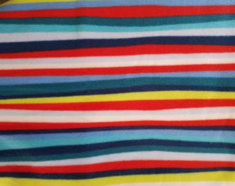 Striped Fleece Fabric (1 yard 8 inches)