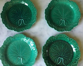 vintage set of 8 Wedgwood cabbage lead plates