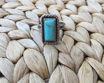 Kingman Turquoise + Sterling Silver Ring