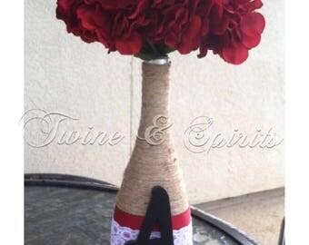 Customized Twine Wine Bottle