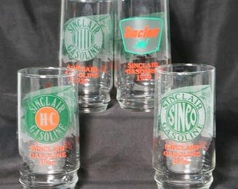 Sinclair Oil's Gasoline 75th Anniversary Glass Collection 1916 1920 1926 1959