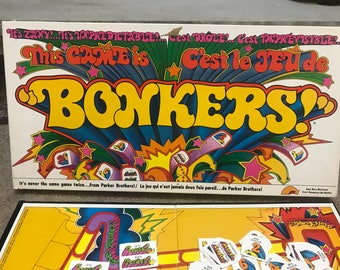 Vintage 1978 Parker Brothers BONKERS Family Board Game 100% Complete