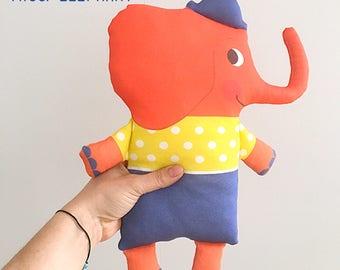 Miss Elephant handmade doll organic cotton