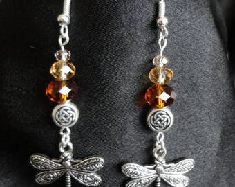 Outlander Inspired Dragonfly Earrings,