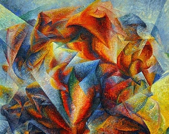 """Laminated placemat Boccioni """"Dynamism of a football player"""""""