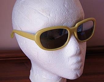 Vintage sunglasses yellow colour made in 60s.