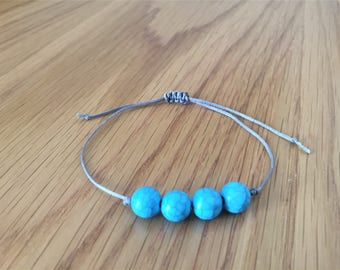 Blue Beads Bracelet, Trendy Bracelets, Braid Jewelry, Adjustable, Blue Bracelet, Braid Patterns