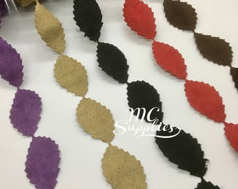 Fabric leaves,faux suede leaves,leaves trim,leaves ribbon,card making leaves,quilting trim,embellished leaves,scrapbooking leaf trim,188
