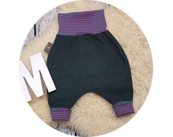 Mitwachsen trousers, harem trousers, corduroy pants, harem pants, pants, baby pants, baby