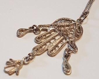 SALE15% Tunisian Khamsa, Berber khamsa, silver filigree Khamsa, Hamsa, Hand of Fatima, Tunisian Jewelry, North Africa jewelry