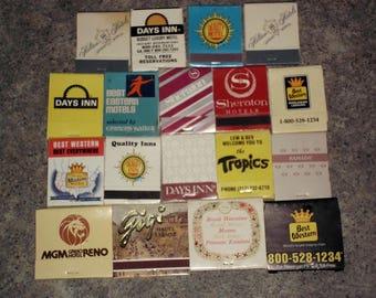 18 Vintage 80s Matchbooks