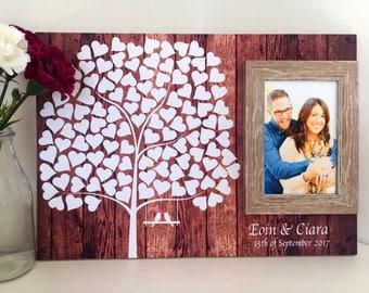 Wedding guest book alternative - Wood guest book- Wedding signature board