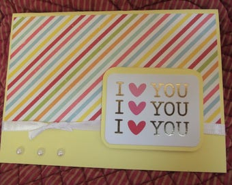 I Heart You Mellow Yellow Greeting Card