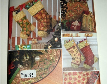 Christmas Tree Skirt and Stockings Simplicity Sewing Pattern 1577