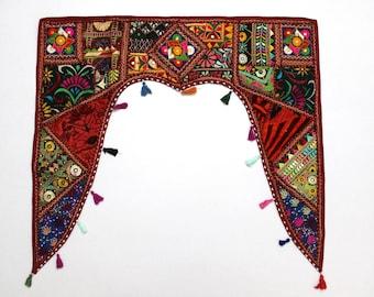 Handmade Window Door Valance Interior Decor Ethnic Gypsy Hippy Hippie Toran Pelmet Topper Drapery Top Hanging Tent Bohemian Art L920