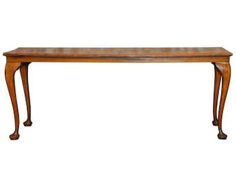 19th Century Queen Anne Revival Walnut Bench or Console