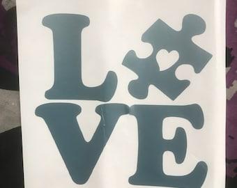 Autism Love Decal