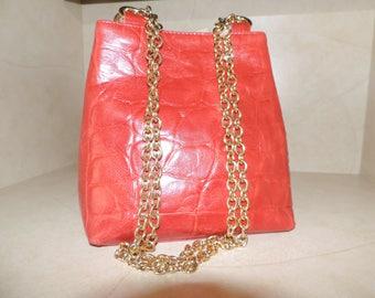 L. J. Simone Leather Bucket Bag