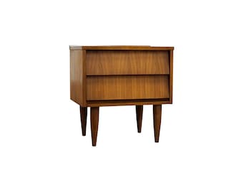 Mid Century Modern Danish Nightstand / End Table