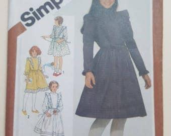 Simplicty Girls Dress Pattern Size 8  #5772