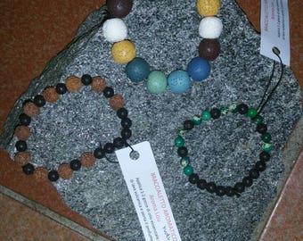 aromatic essential oils on request or just bracelet with stones