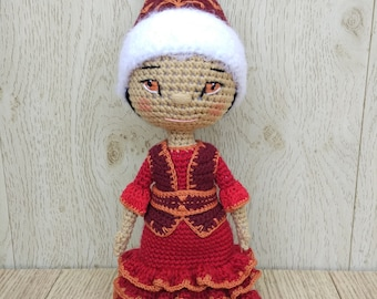 Knitted doll Kazashka