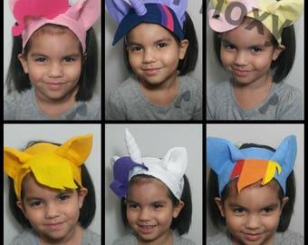 My favorite pony headbands, my little pony, unicorn headband, pony headband, dress up, unicorn costume, pony cistume, mlp costume
