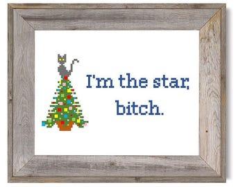 I'm the star Cross Stitch PATTERN ONLY