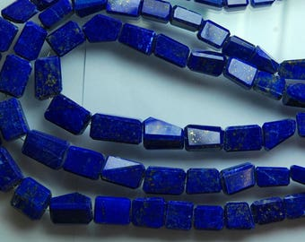 14 Inches Strand, AAA Afghan Lapis, Natural LAPIS LAZULI Faceted Nuggets, Size 15-9mm