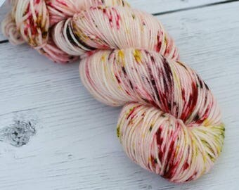 Poison Apple - Speckled Yarn - Hand Dyed Yarn - Speckled Sock Yarn - Speckled DK Yarn - Dyed to Order - Knitting Yarn - Direful Yarns