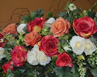 Wedding Arch, Chuppah Arch,  Silk Flower Arch, Wedding table backdrop, Silk Flower Backdrop, Silk Wedding Arch,