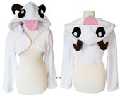 League of Legends Poro inspired cosplay costume hoodie (shrug style), lol gamer, game cosplay, halloween costume, poro snax, cosplay hoodie