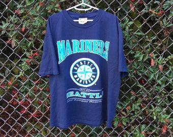 VTG 1997 Seattle Mariners T-Shirt - XL - MLB - Washington State - Baseball - Navy Blue - Lee Sport Vintage Tee - Vintage Clothing -
