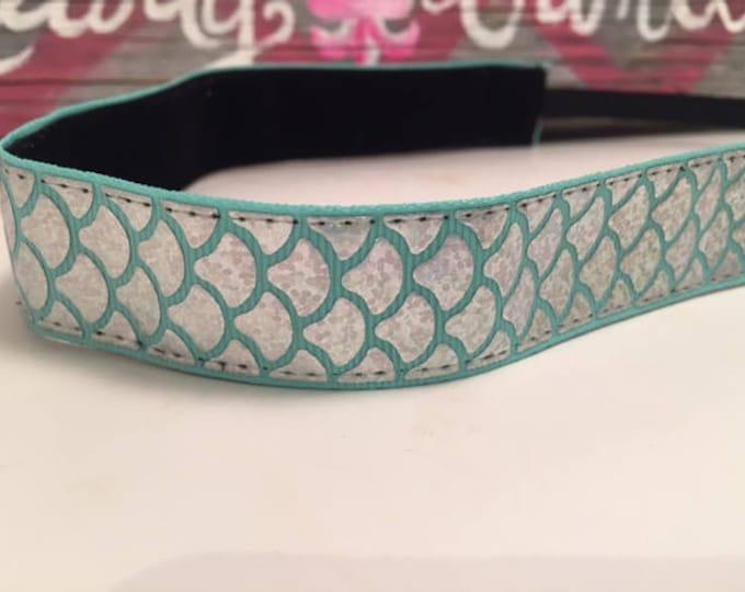 Nonslip Headband Silver Scales