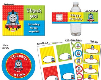 INSTANT DL- Thomas the Train - Birthday party Package- Printable