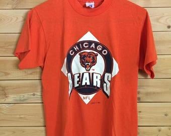 Vintage Chicago Bears Shirt // Vintage Bears Football T-Shirt // Vintage Chicago Shirt