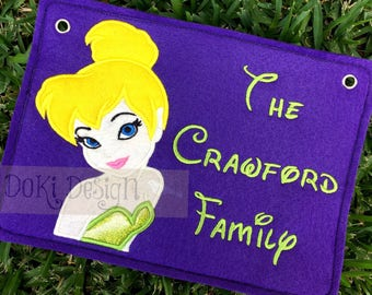 Fairy Princess Choose Your Character Embroidered Stroller Tag