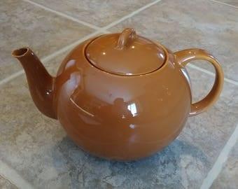 Brown Teapot, Modern Teapot, Modern Brown Teapot, Ceramic Teapot, Copco Teapot, Round Teapot, Vintage Brown Teapot, Brown Tea Pot, Gift