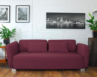 Slip cover to fit the ikea Mysinge 2 seat sofa WINE