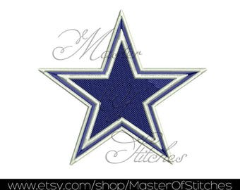 Football machine Embroidery Design (dallas cowboys) fill stitches and applique 4x4 - Instant Download