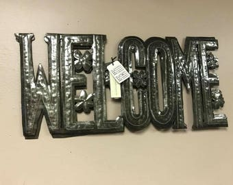 Welcome Iron Sign  HHL62
