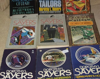 9 Dorothy L Sayers books Free Shipping