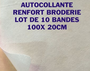 Consolidated Viseline adhesive reinforcement embroidery hem 10 tapes adhesive 100 X 20 CM