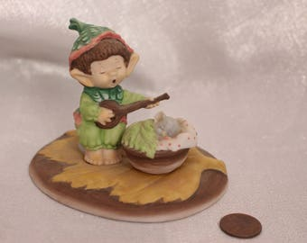 "Vintage Hallmark Lovelets Pixie Elf ""The Heart Sings Tenderly"" 1983 Hallmark Cards"